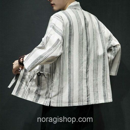 Light Color Striped Streetwear Noragi 8