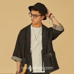 Black Denim Streetwear Noragi 1