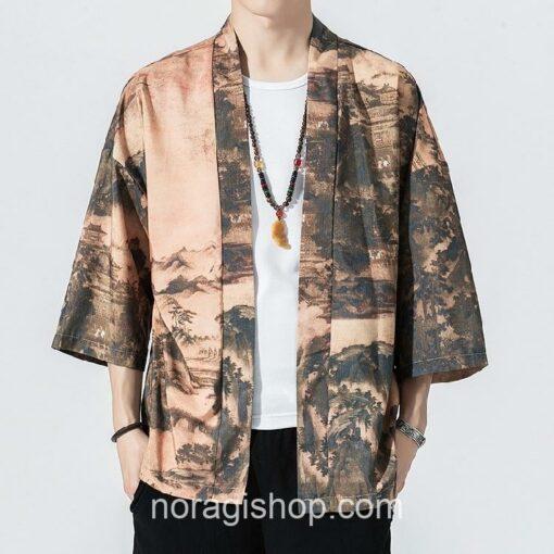 Traditional Landscape Art Streetwear Noragi 2