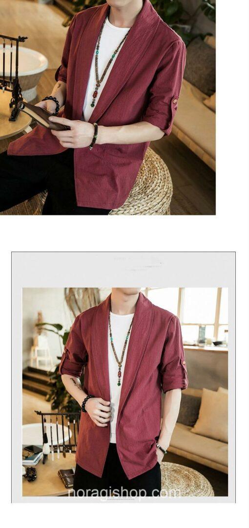 Red Linen Style Noragi 4