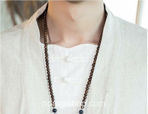 Beige Traditional Pattern Streetwear Noragi 8