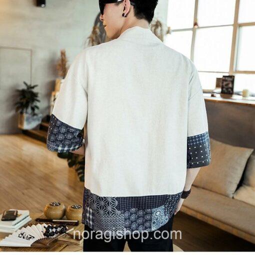 Beige Traditional Pattern Streetwear Noragi 5