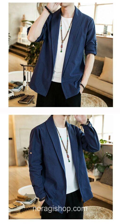 Blue Linen Style Noragi 2