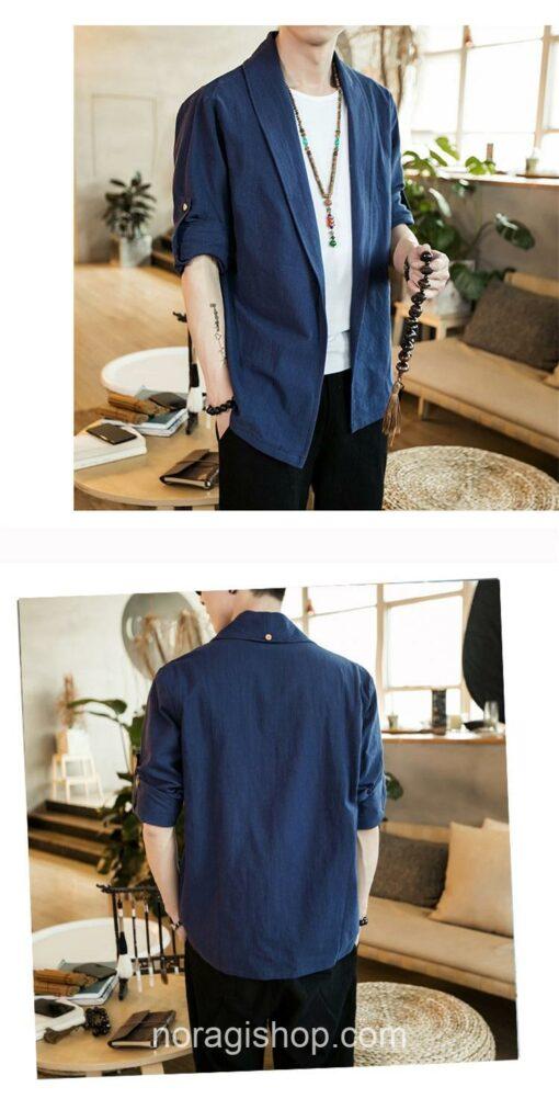 Blue Linen Style Noragi 4