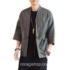 Dark Gray Striped Noragi 1