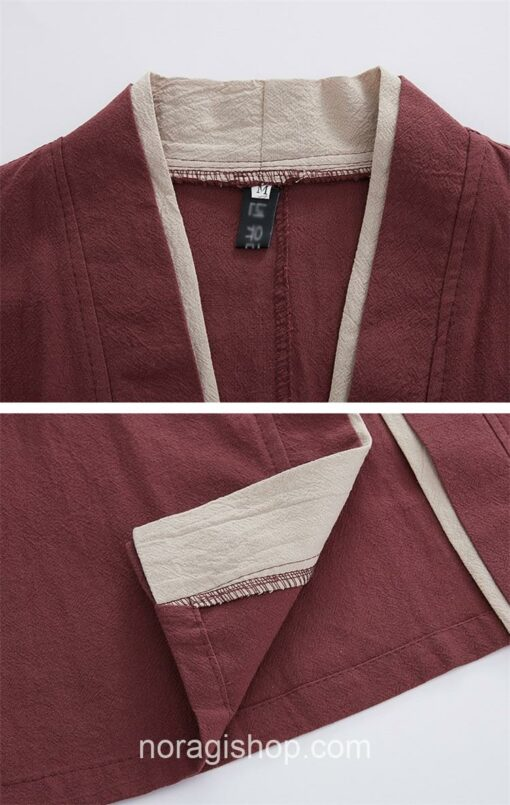 Red Casual Style Noragi 5