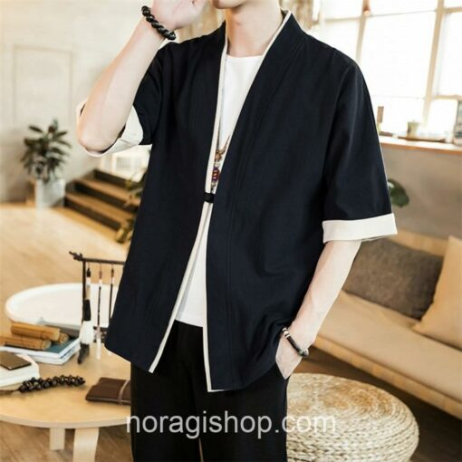 Black Casual Style Noragi 3
