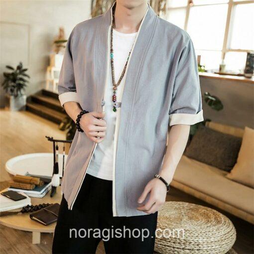 Bright Gray Casual Style Noragi 2