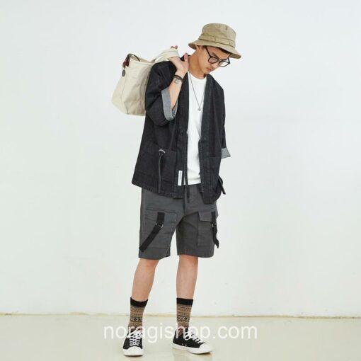 Black Denim Streetwear Noragi 3