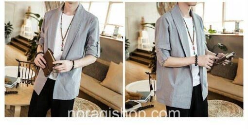 Bright Gray Linen Style Noragi 3