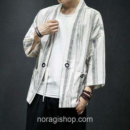 Light Color Striped Streetwear Noragi 6