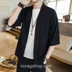 Black Traditional Streetwear Noragi 1