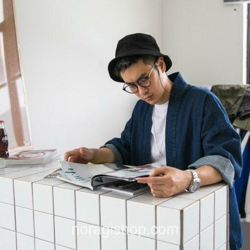 Blue Denim Streetwear Noragi 8