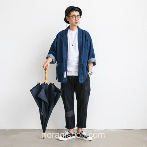 Blue Denim Streetwear Noragi 7