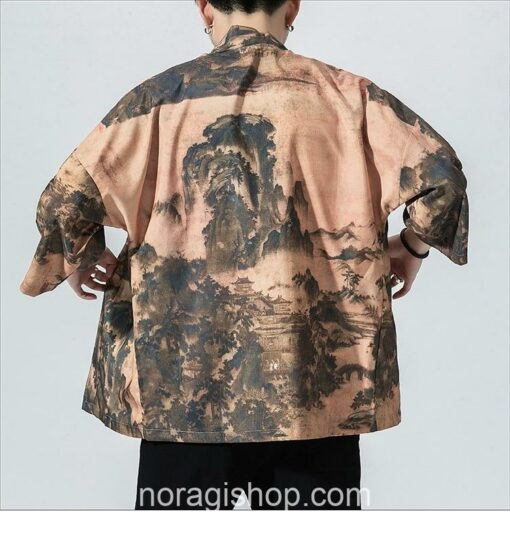 Traditional Landscape Art Streetwear Noragi 5