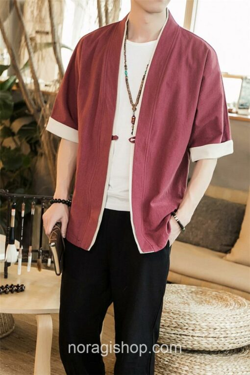 Red Casual Style Noragi 4