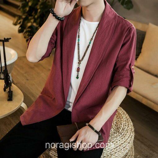 Red Linen Style Noragi 1