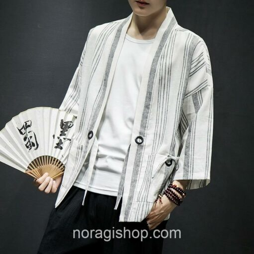 Light Color Striped Streetwear Noragi 7