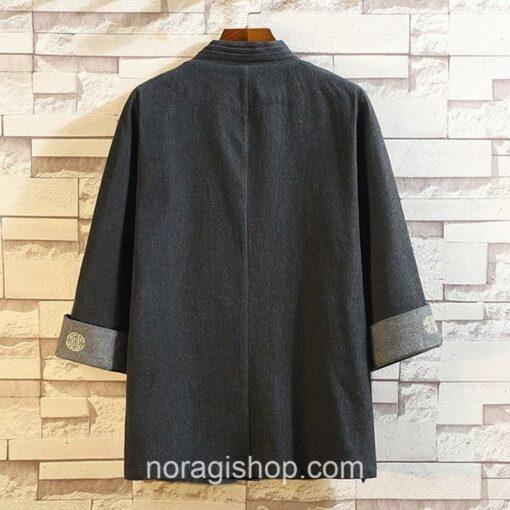 Black Soft Denim Noragi 2