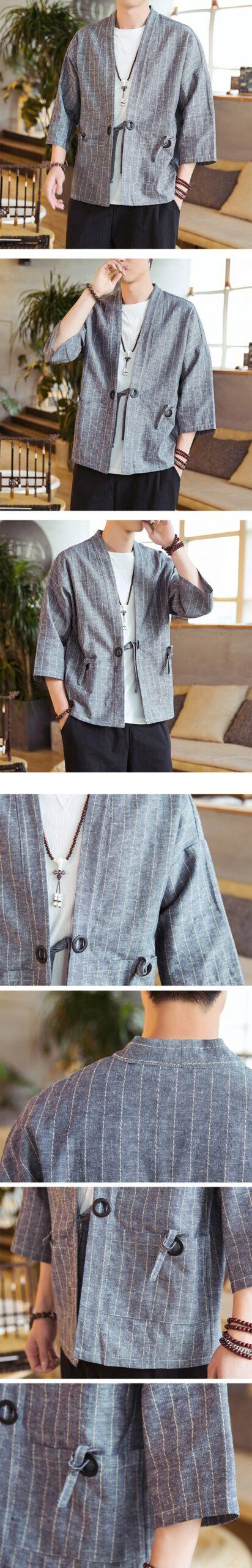 Light Gray Striped Noragi 4
