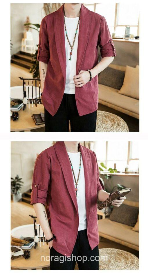 Red Linen Style Noragi 3