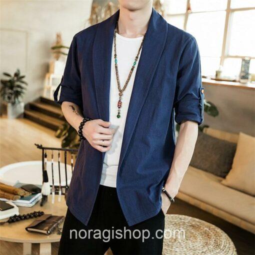 Blue Linen Style Noragi 1