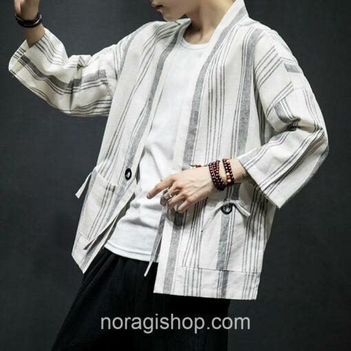 Light Color Striped Streetwear Noragi 1