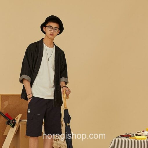 Black Denim Streetwear Noragi 6