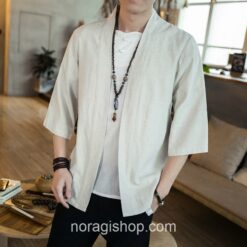 Beige Traditional Streetwear Noragi 1