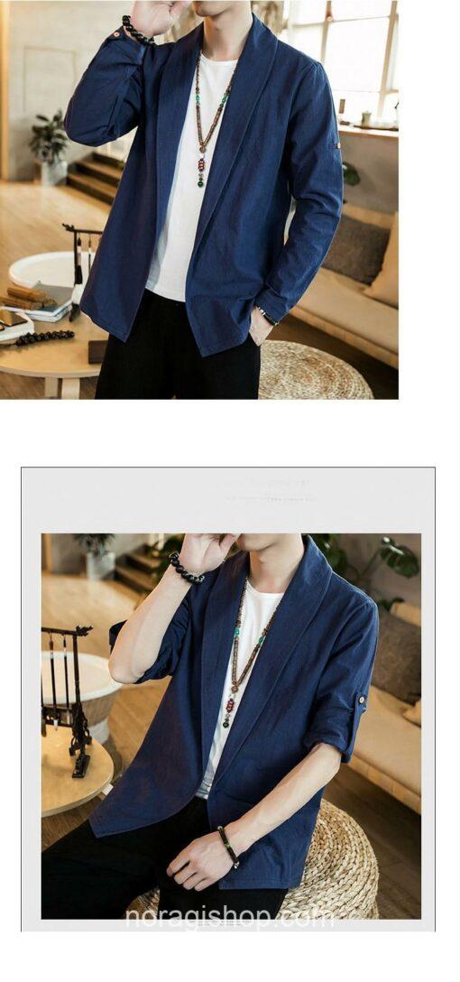 Blue Linen Style Noragi 3