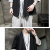 Black Casual Streetwear Style Noragi 4