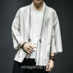 Light Color Striped Streetwear Noragi 2