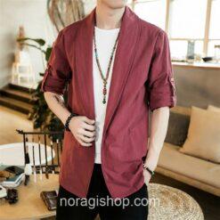 Red Linen Style Noragi 2