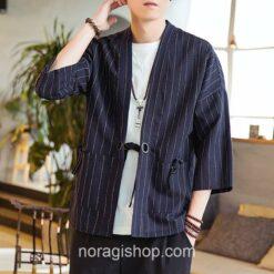 Dark Blue Striped Noragi 1
