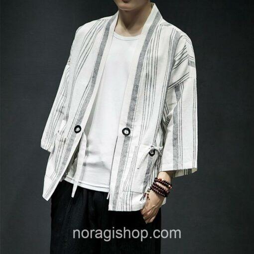 Light Color Striped Streetwear Noragi 5