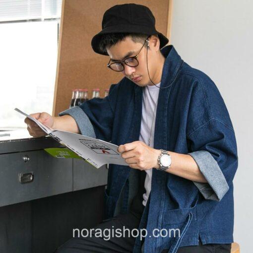 Blue Denim Streetwear Noragi 9