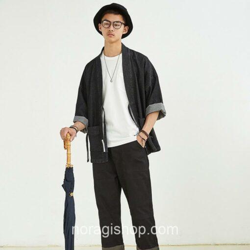Black Denim Streetwear Noragi 5