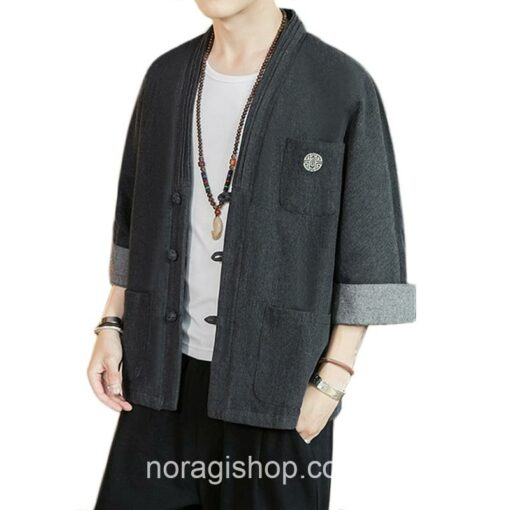 Black Soft Denim Noragi 4