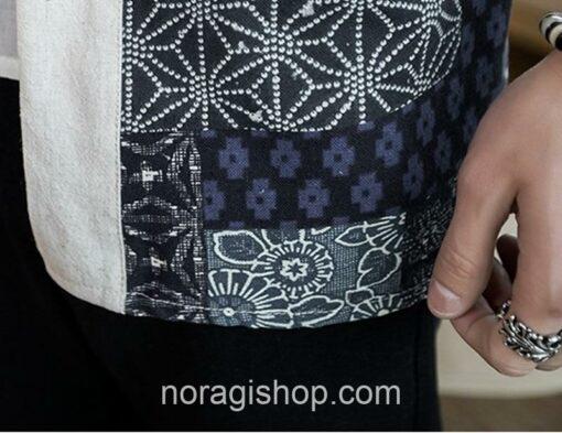 Beige Traditional Pattern Streetwear Noragi 10